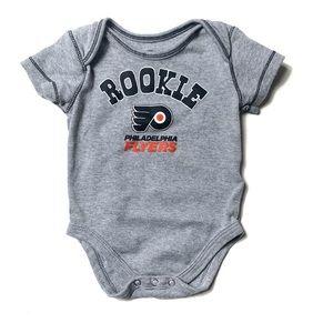 NHL Rookie Flyers Philadelphia 6/9m Gray Onesie
